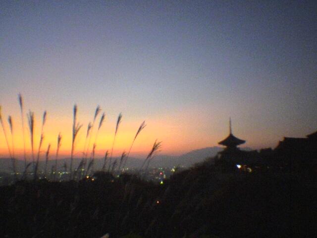 清水寺から見た京都の夕景